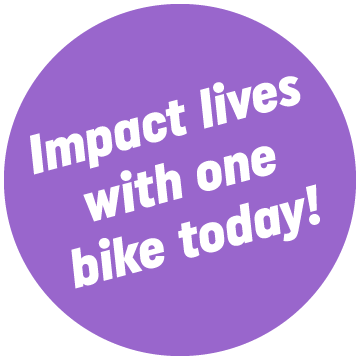 Impact lives with one bike today!
