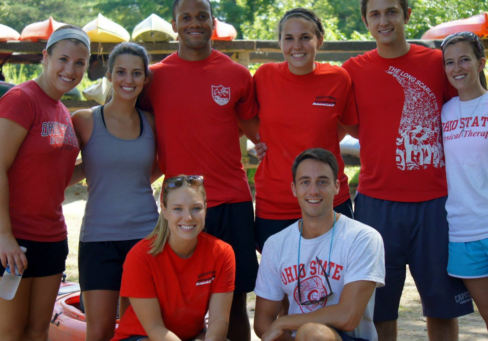 OSU physical therapy volunteers